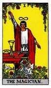 The Magician Tarot card in Rider Waite deck