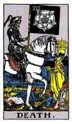 Death Tarot card in Rider Waite Tarot deck