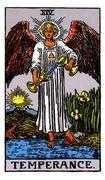 Temperance Tarot card in Rider Waite Tarot deck