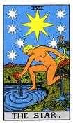 The Star Tarot card in Rider Waite Tarot deck