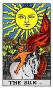 The Sun Tarot card in Rider Waite Tarot deck