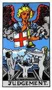 Judgement Tarot card in Rider Waite Tarot deck