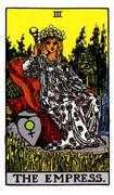 The Empress Tarot card in Rider Waite deck