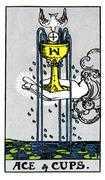 Ace of Cups Tarot card in Rider Waite Tarot deck