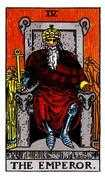 The Emperor Tarot card in Rider Waite Tarot deck
