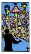 Seven of Cups Tarot card in Rider Waite Tarot deck