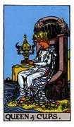 Queen of Cups Tarot card in Rider Waite deck