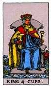 King of Cups Tarot card in Rider Waite Tarot deck