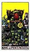 King of Coins Tarot card in Rider Waite Tarot deck