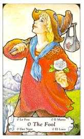The Foolish Man Tarot Card - Hanson Roberts Tarot Deck