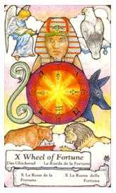 The Wheel of Fortune Tarot Card - Hanson Roberts Tarot Deck