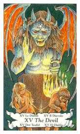 The Devil Tarot Card - Hanson Roberts Tarot Deck