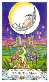 The Moon Tarot Card - Hanson Roberts Tarot Deck