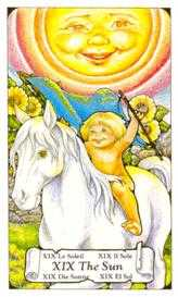 The Sun Tarot Card - Hanson Roberts Tarot Deck