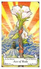 Ace of Staves Tarot Card - Hanson Roberts Tarot Deck
