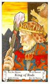 King of Staves Tarot Card - Hanson Roberts Tarot Deck