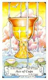 Ace of Cups Tarot Card - Hanson Roberts Tarot Deck