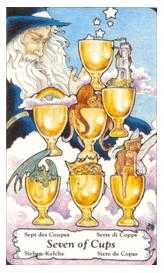 Seven of Cauldrons Tarot Card - Hanson Roberts Tarot Deck