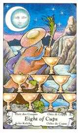 Eight of Cauldrons Tarot Card - Hanson Roberts Tarot Deck
