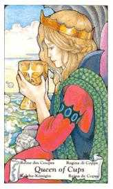 Queen of Bowls Tarot Card - Hanson Roberts Tarot Deck