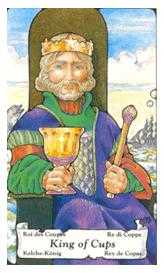 King of Cauldrons Tarot Card - Hanson Roberts Tarot Deck