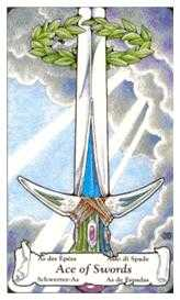 Ace of Swords Tarot Card - Hanson Roberts Tarot Deck