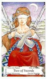 Two of Arrows Tarot Card - Hanson Roberts Tarot Deck