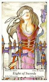 Eight of Arrows Tarot Card - Hanson Roberts Tarot Deck