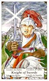 Cavalier of Swords Tarot Card - Hanson Roberts Tarot Deck