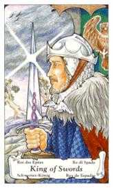 Roi of Swords Tarot Card - Hanson Roberts Tarot Deck