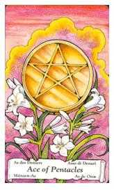 Ace of Pentacles Tarot Card - Hanson Roberts Tarot Deck