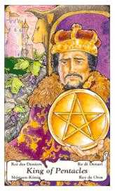King of Discs Tarot Card - Hanson Roberts Tarot Deck