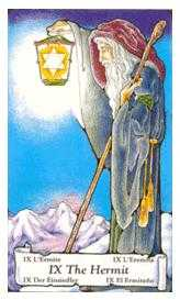 The Hermit Tarot Card - Hanson Roberts Tarot Deck