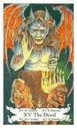 The Devil Tarot card in Hanson Roberts Tarot deck