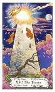 The Tower Tarot card in Hanson Roberts Tarot deck