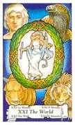 The World Tarot card in Hanson Roberts deck