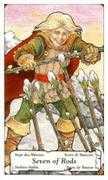 Seven of Wands Tarot card in Hanson Roberts Tarot deck