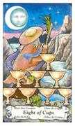 Eight of Cups Tarot card in Hanson Roberts Tarot deck