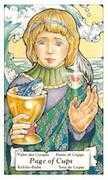 Page of Cups Tarot card in Hanson Roberts Tarot deck