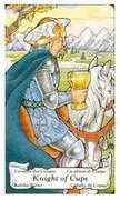 Knight of Cups Tarot card in Hanson Roberts Tarot deck