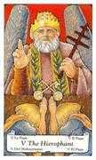 The Hierophant Tarot card in Hanson Roberts Tarot deck