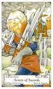 Seven of Swords Tarot card in Hanson Roberts Tarot deck