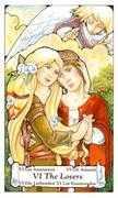 The Lovers Tarot card in Hanson Roberts Tarot deck