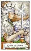 Queen of Swords Tarot card in Hanson Roberts Tarot deck