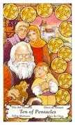 Ten of Coins Tarot card in Hanson Roberts Tarot deck