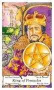 King of Coins Tarot card in Hanson Roberts Tarot deck