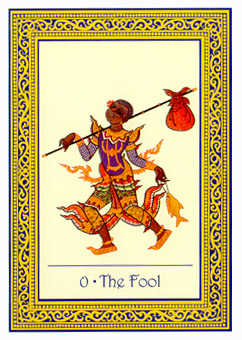 The Fool Tarot Card - Royal Thai Tarot Deck