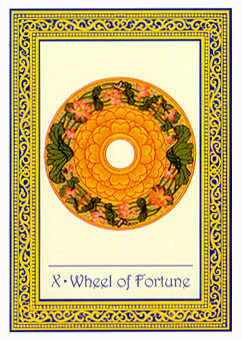 The Wheel of Fortune Tarot Card - Royal Thai Tarot Deck