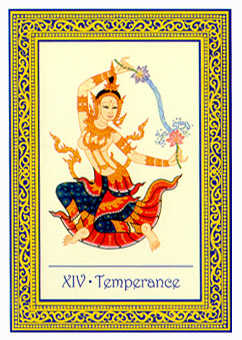 Temperance Tarot Card - Royal Thai Tarot Deck