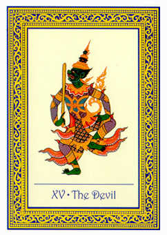 The Devil Tarot Card - Royal Thai Tarot Deck